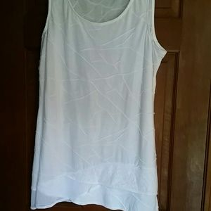 COPY - Coldwater creek white sleeveless top